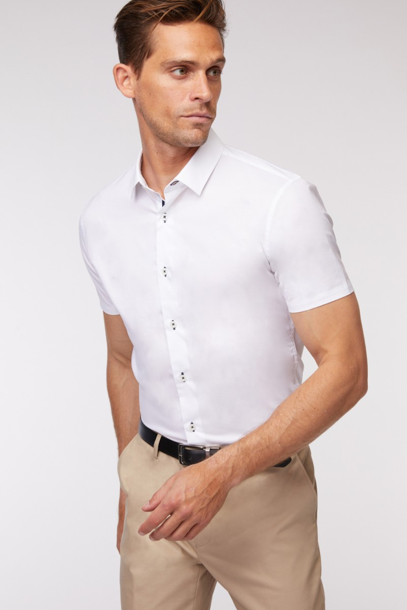 White Stretch SS Shirt