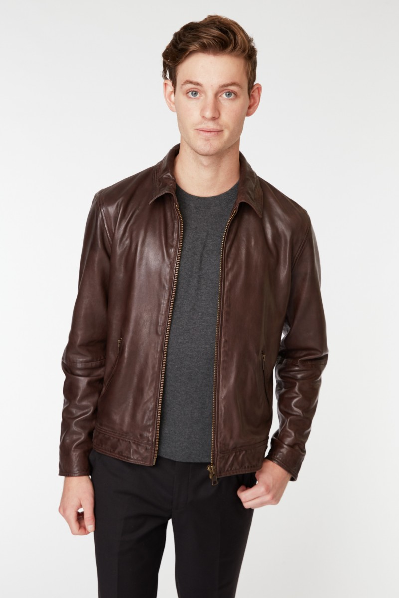 Brown Motley Leather Jacket