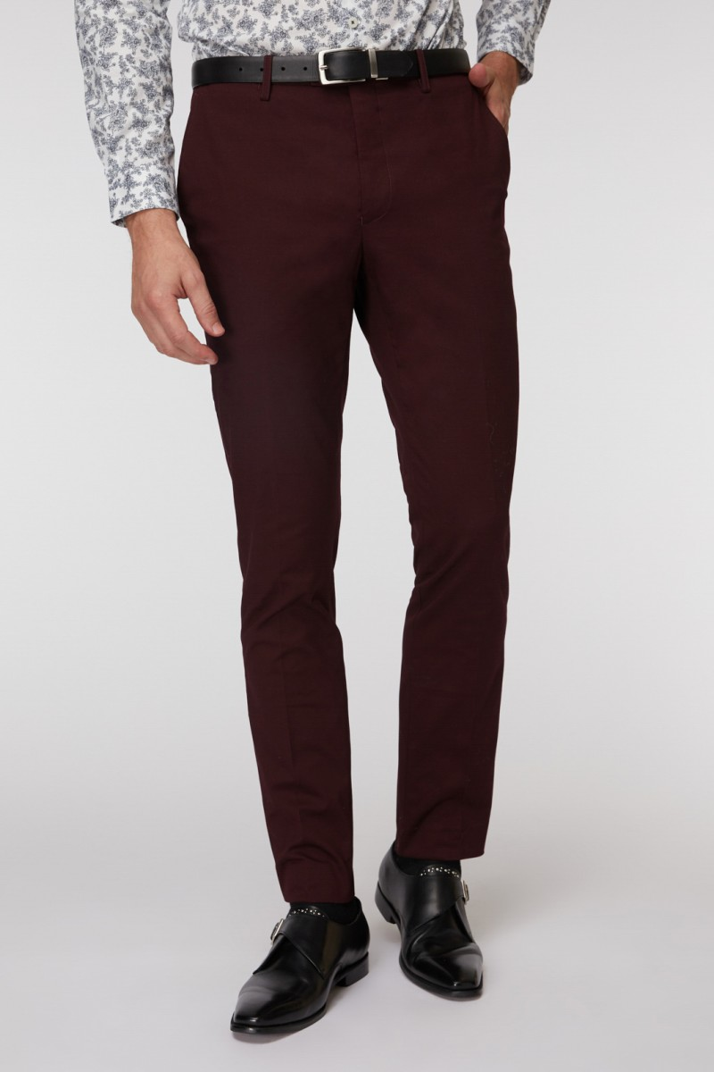 Burgundy SS Dress Chino