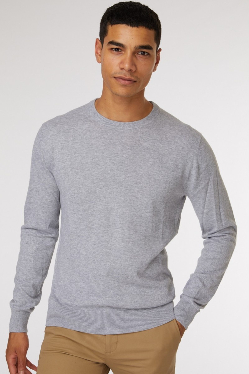 Light Grey Crew Neck Knit