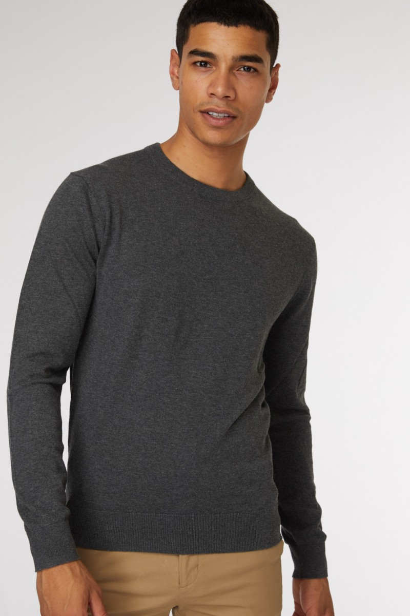 Dark Grey Crew Neck Knit
