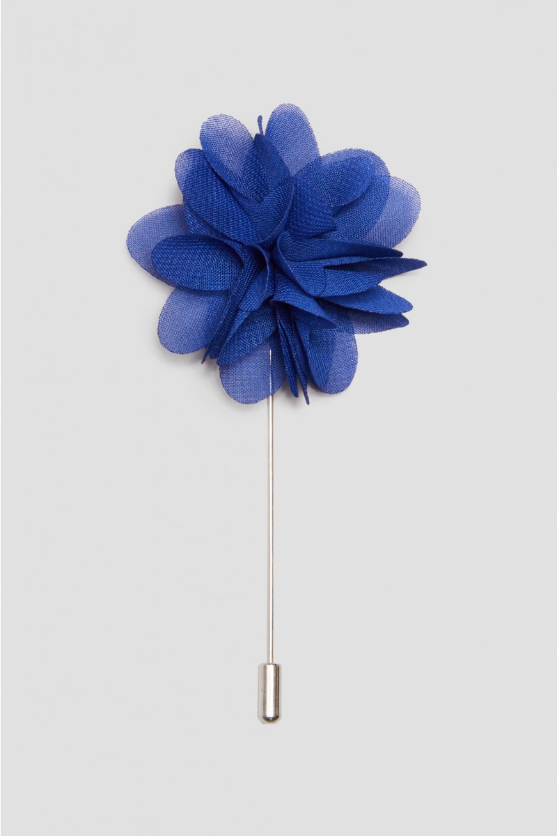 French Navy Flower Lapel Pin
