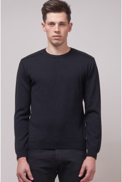 Ribbed Crew Knit
