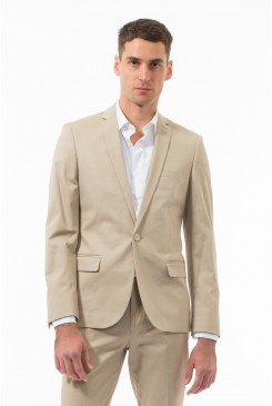 Taupe Cotton Twill Jacket