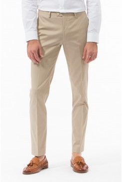 Taupe Cotton Twill Pant