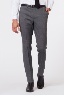 Dark Sharkskin Suit Pant