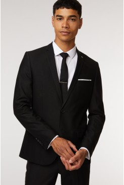 Jet Black Suit Jacket