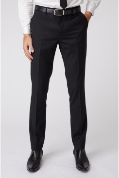 Black Stretch Mod Suit Pant