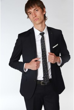 Navy Stretch Mod Suit Jacket