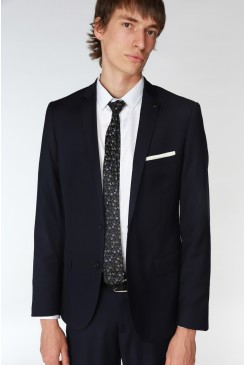Blue Stretch Mod Suit Jacket
