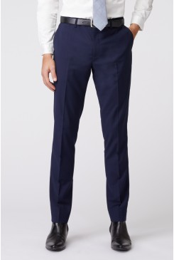 Blue Stretch Mod Suit Pant