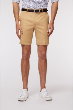 Tan SS Dress Short