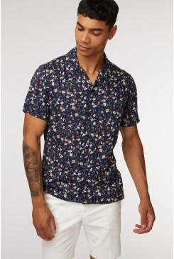 Navy Vines SS Shirt