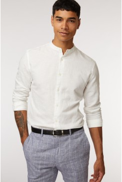 Mandarin Collar LS Shirt