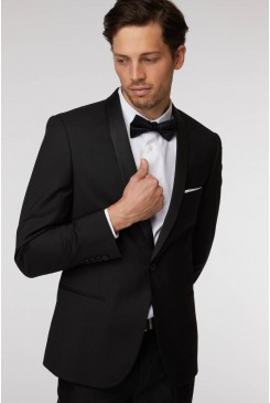 Black Stretch Tuxedo Jacket