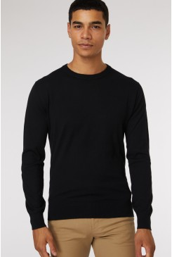 Black Crew Neck Knit