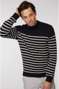 Stripe Turtleneck Knit