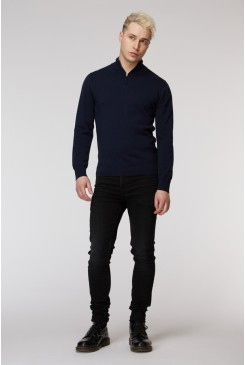 Navy Sussex Turtleneck