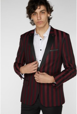 Burgundy Stripe Cocktail Jacket
