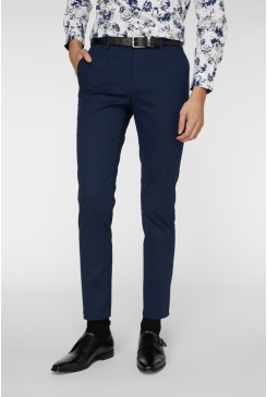 French Navy Stretch Suit Pant