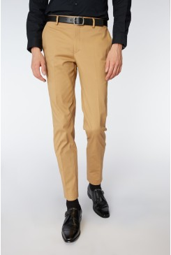 Dark Tan Dress Chino
