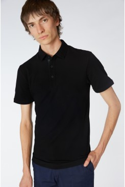 Black Trimmed Polo