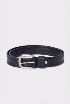 Black Embossed Belt