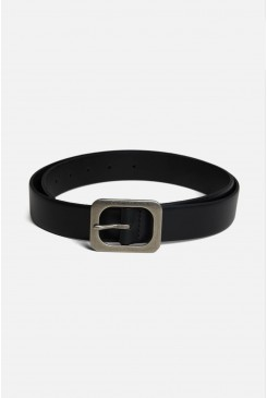 Rounded Square Buckle Belt