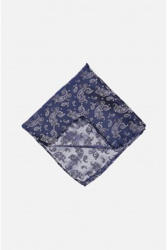 Silver Paisley Pocket Square