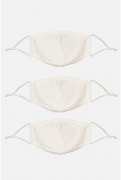 Face Mask White Jersey Multi-pack