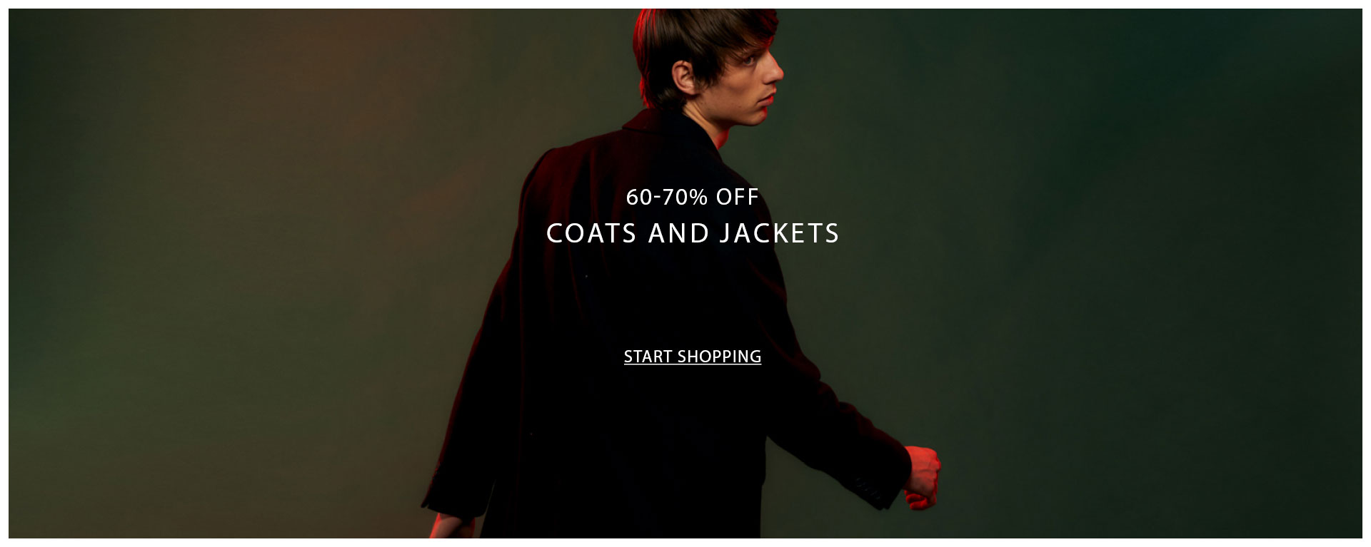60-70% off coats & jackets
